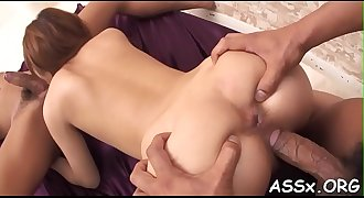 Japanese anal playing and fisting