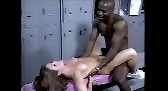 Tiny Lady Fucked hard in locker room by black man