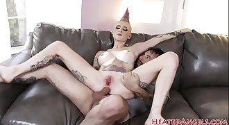 Busty punk bitch gets fucked anally