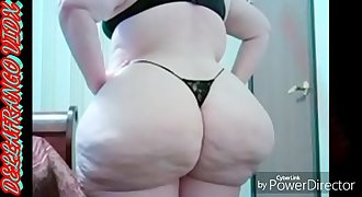 **DELLAFRANGO VIDX** GIGANTIC AWESOME BIG ASS WHITE BBW DOGGYSTYLE INTERRACIAL